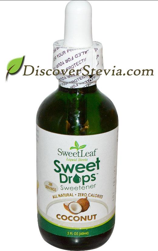 Sweet leaf flavored stevia drops